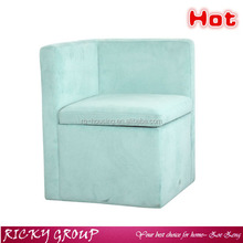 Classic blue fabric wooden and fabric half sofa chair/half moon sectional sofa