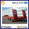 BPW Low Bed Semi Trailer 3 Axle 60ton used semi trailer sale