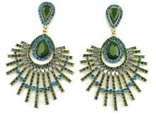WSF155 Charm Rhinestone Hanging earring fashion Chandelier Dangle peacock earrings chandelier earring
