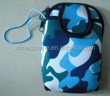 camo neoprene cell phone case camera bag camera sleeve