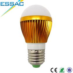 Factory wholesale lampadas de led e27 5w Gold&Silver Led lamps E27 220V