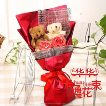 wholesales 2015 promo teddy bear bouquet party giveaway gift