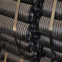 Waterproof high quality rubber conveyor impact idler roller for cement belt conveyor