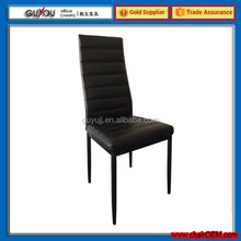 Y 44 Glass Dining Table Set and 4 Black Faux Leather Chairs Seats