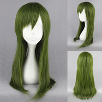 wholesale 60cm Medium Straight Kagerou Project-Kido Tsubomi Green Synthetic Anime Cosplay Wig
