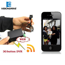 new product samllest hiddent camera 3g button camera support SIM SD card video mini DVR