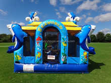Funny sea world inflatable bouncy for sale