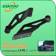 2015 50inch Dodge Ram top roof brackets, black light bar bracket