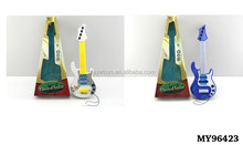 Promotioanl colorful Toy bass guitar with lights Miniature toy guitar Toy bass guitar
