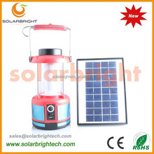 Solarbright manufactured emergency portable solar lighting powered rechargeable camping light solar led lantern