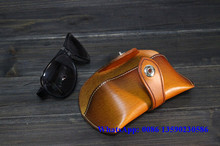 2015 vintage leather sunglasses case wholesale case sunglasses OEM