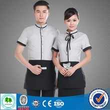 2015 Fashion restaurant waiter uniform design