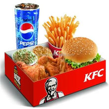 Take Away Paper Food Packaging Box for Grilled Chicken Sandwich