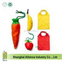 Wholesale promotional fruit shaped polyester folding shopping bag