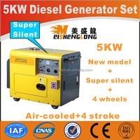 Diesel engine silent generator set genset CE ISO approved factory direct supply power green power generator