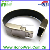 Personal Gift Bracelet USB Memory Stick Leather Wristband Usb Pendrive 8GB
