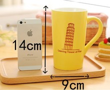 Promotion Light Color Big Capacity Ceramic Beer Mug