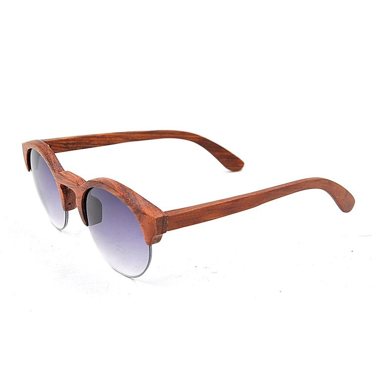 Half Frame Wood Glasses : Latest Design Wooden Round Half Frame Sunglasses,Sun ...