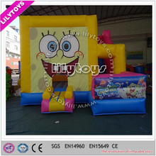 Lovely hot selling big cartoon inflatable bouncer combo 6*5*4m with SGS
