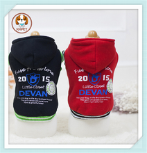 2015 High quality Thicken cotton padded cap unlined upper garment for dog clothes