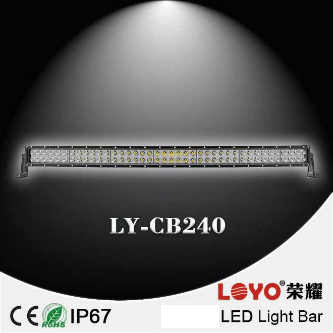 "Waterproof wholesale Curved led light bar 40"" 240W led light bar for Trucks SU/4WD offroad curved led light bar"