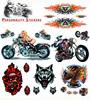 Personalized Helmet Stickers Bike Motorcycle decal/wolf sticker for racing motorcycle/vinyl motorcycle/dirt bike decals