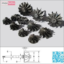 TB25 / TB28 / GT2556V Shaft Wheel 435257-0001/435257-1/435257 Turbine Shaft and Wheel Assembly