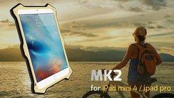 For ipad mini 4 Love Mei case , NEW Shockproof Waterproof Aluminum scrennprotector case For ipad mini 4 Love Mei
