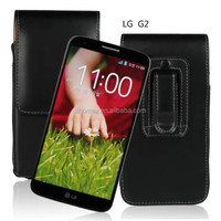PU Leather Holster Phone Case Cover Pouch Belt Clip for LG G2