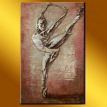 new unique wonderful home decor sculpture painting with ballet dancing girl