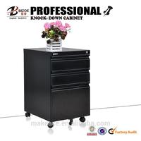Modern cheap steel kd metal storage file cabinet with wheels