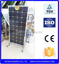Monocrystalline 130w photovoltaic solar panel from china manufacturer
