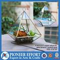 Cooper color geométrica jardín decoración cristal terrario para interiores holder