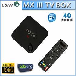 Amlogic Quad Core 2.0GHz MINI PC 4K MXIII S802 Android 4.4 Tv Box Miracast DLAN 2G 8G TV Box 802.11a/b/g/n dual band wifi MX III