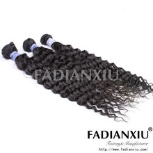 machine sew in weave double weft no shedding brazilian 5a human hair drawstring ponytail
