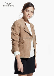 2015 women's fashionable suede leather motorcycle jacket