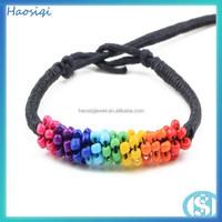 2014 top selling newnew style elastic Hemp/Nylon rope smal bead wrap braided Bracelet