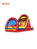 dual lane inflatable slide /inflatble bouncer with arch