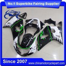 FFGSU001 Motorcycle Fairing For GSX R750 GSXR750 GSX R600 GSXR600 2001 2002 2003 Green Monster
