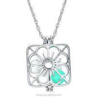 2015 New Design!!! Valentine's Day present Luminous necklace hollow circular fluorescence jewelry necklace