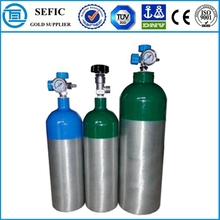 Used Widely Aluminum Oxygen Gas Filling Empty Cylinder Medical Breathing Equipment