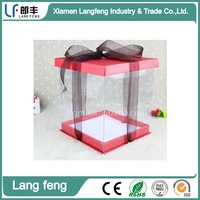 High quality cheap PVC cupcake display boxes
