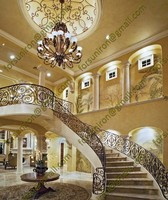 2014 new Luxury wrought iron stair handrail for villa