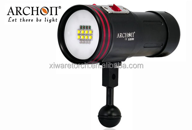 ARCHON 5200lm White /Red /Purple/ UV Light LED Flashlight Torch for Diving Video /Diving Photographing Light /Dive Equipment