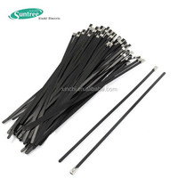 Good Performance Stainless Steel Exhaust Wrap Coated Locking Cable Zip Ties