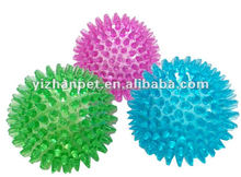 2015 China hot product dog chew toy spiky ball toy with LED light