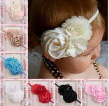 fashion charm rose baby flower headband in wholesale