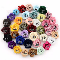 High quality handmade artificial fabric rose flowers for baby hair accessory Headband wedding dresses accessories decoration