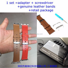for apple watch leather bands with adaptor genuine leather material
