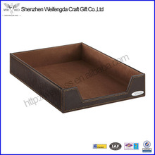 Promotion Fashion Handmade Luxurious Leather Letter Tray